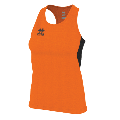 SMITH SINGLET (W) - Orange Fluo/Black