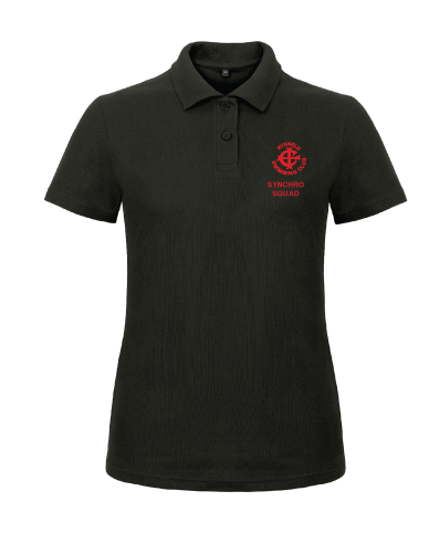 Womens Polo Shirt Black - RS Officials